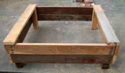 Completed Raised Bed Container Garden Box