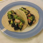 Black Bean Tacos with Radish & Avocado Salsa