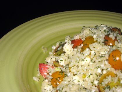 Cherry Tomato & Feta Orzo with Dill