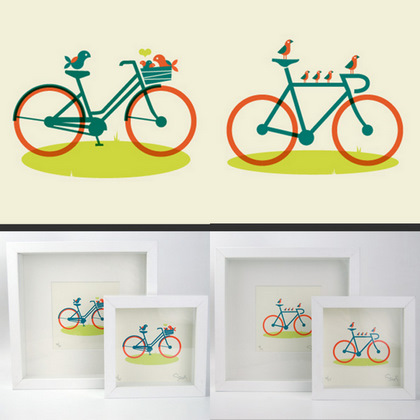 Dan Stiles bike prints
