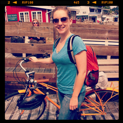 traveling light by bike on the ferry