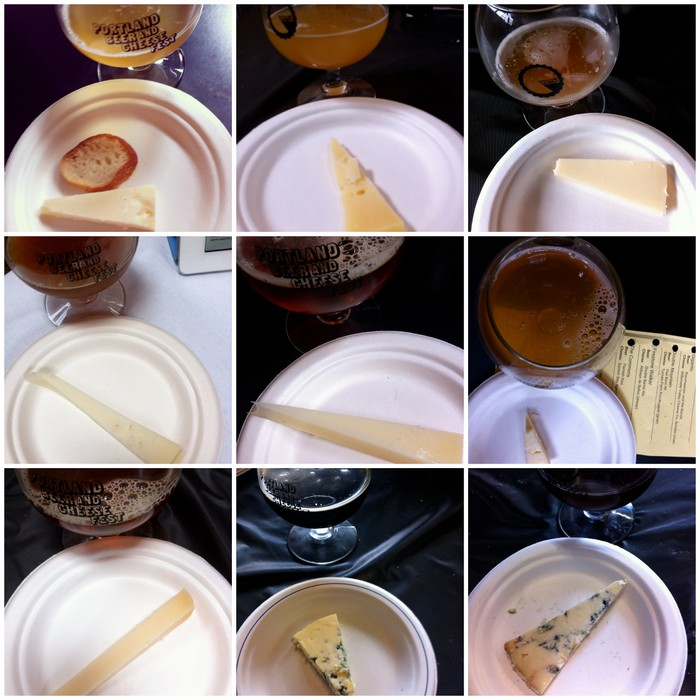 Portland Beer and cheese festival pairings