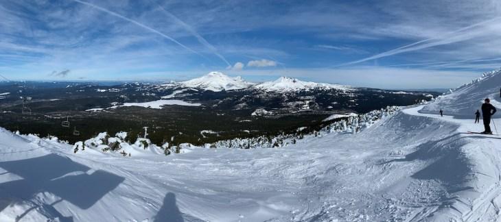 skiing at Mt Bachelor