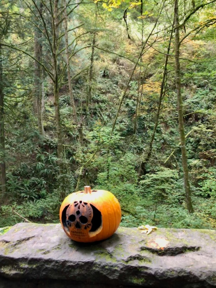 October at the Witches Castle and you might find pumpkins