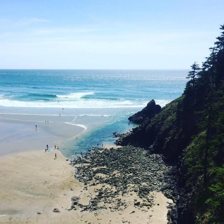 June Oregon coast