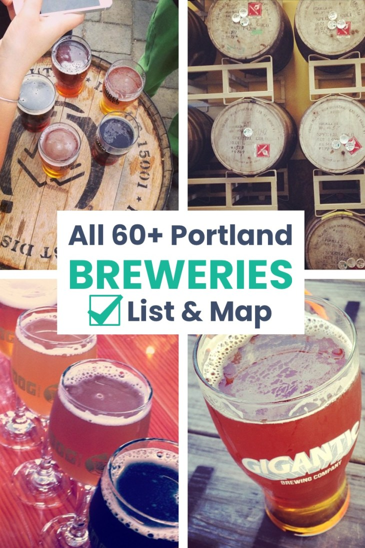 Portland breweries list and map - Portland, Oregon