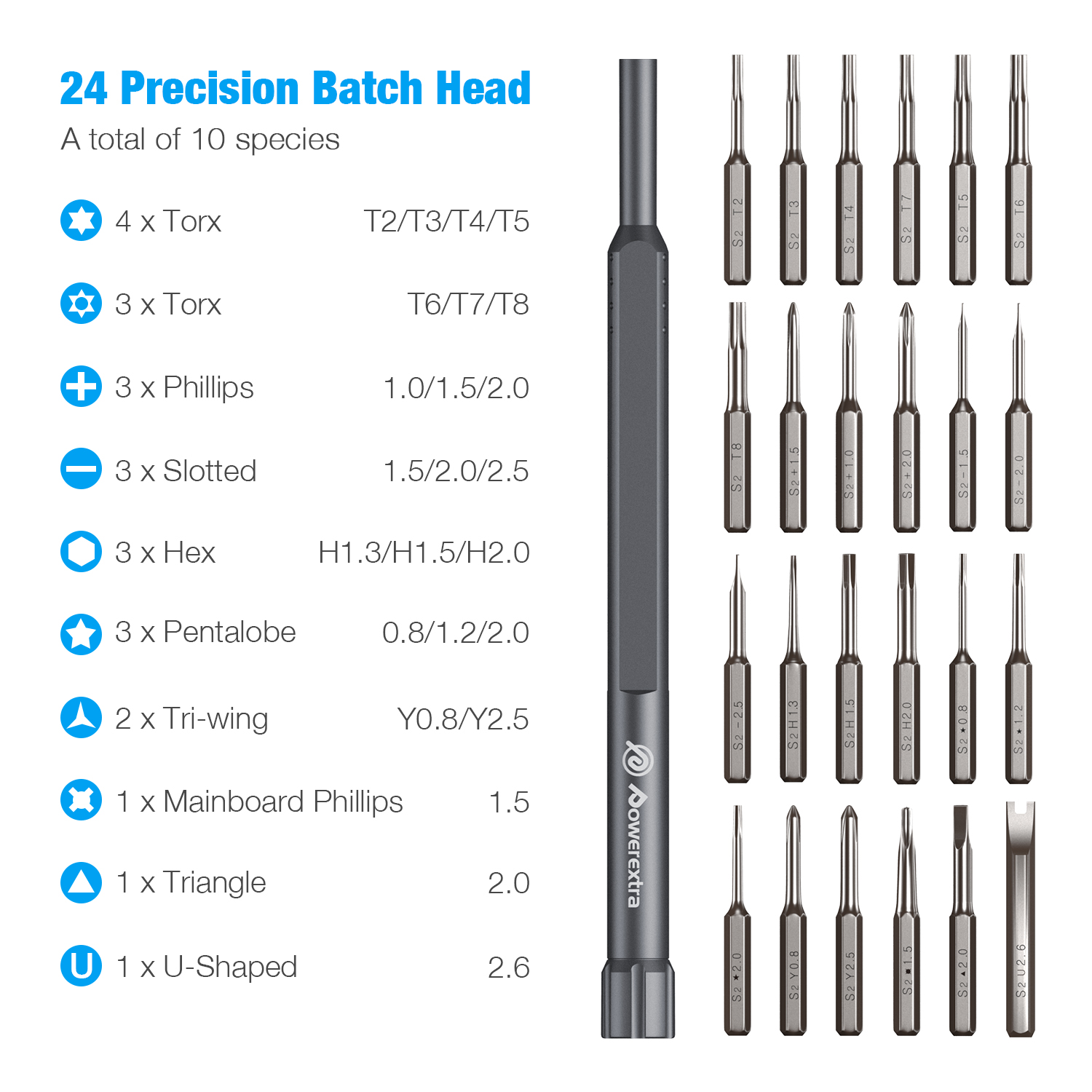 Powerextra Precision Screwdriver Set 25 In 1 Magnetic