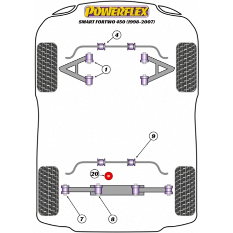 Powerflex Smart ForTwo 450 (1998-2007) Engine Mount Insert