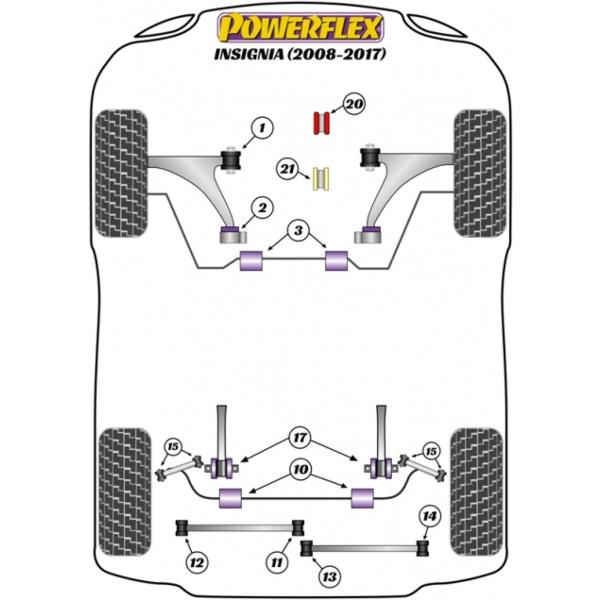 Powerflex für Opel Insignia 2WD (2008-2017) Schräglenker