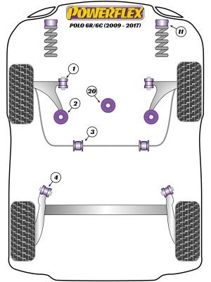 Powerflex PU Buchsen für VW Polo 6R 2009-2017, Seite 2