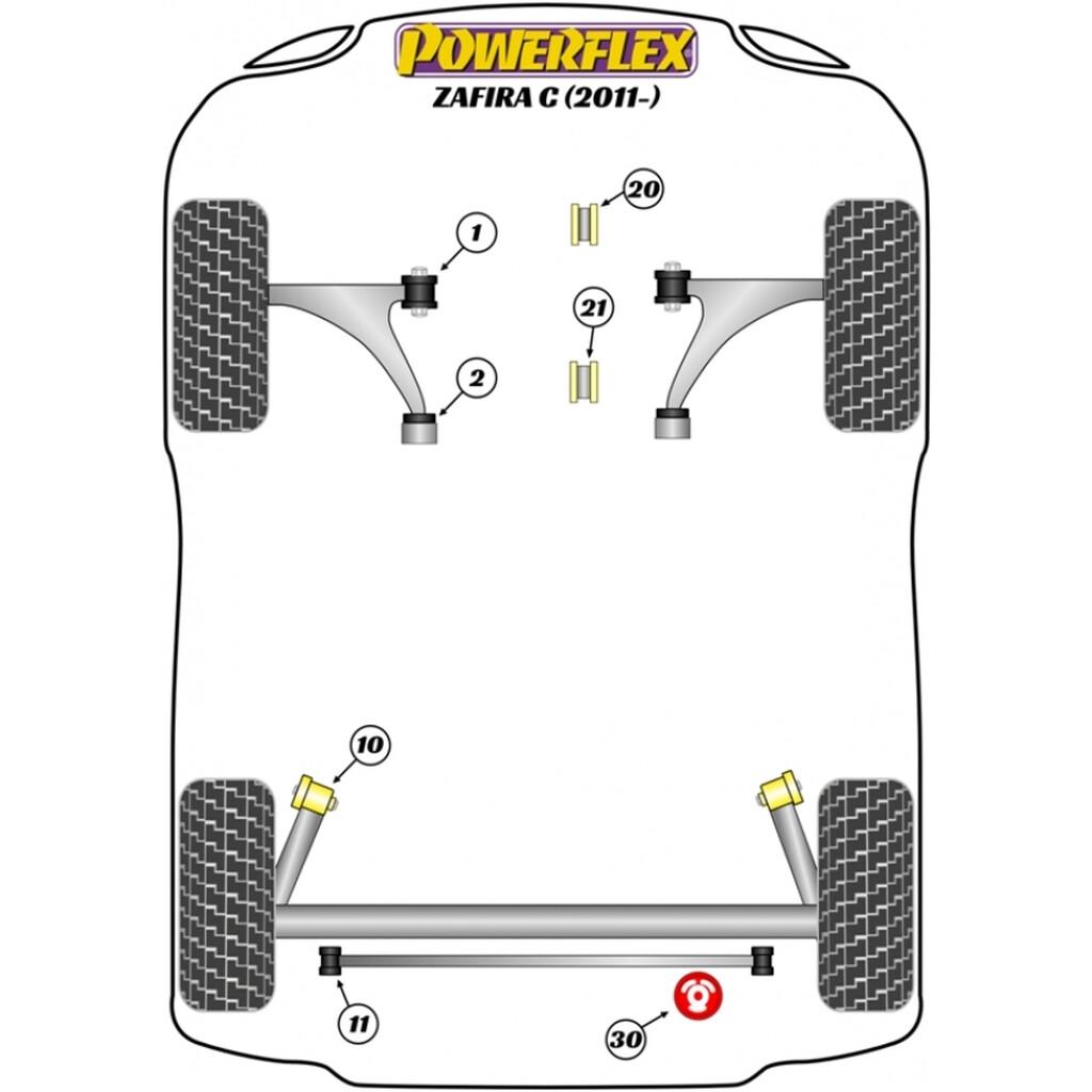 Powerflex PFF80-1421 PU Verstärkungseinsatz hinteres