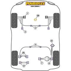 Powerflex 2x PFR19-812 PU Lager Längslenker Hinterachse