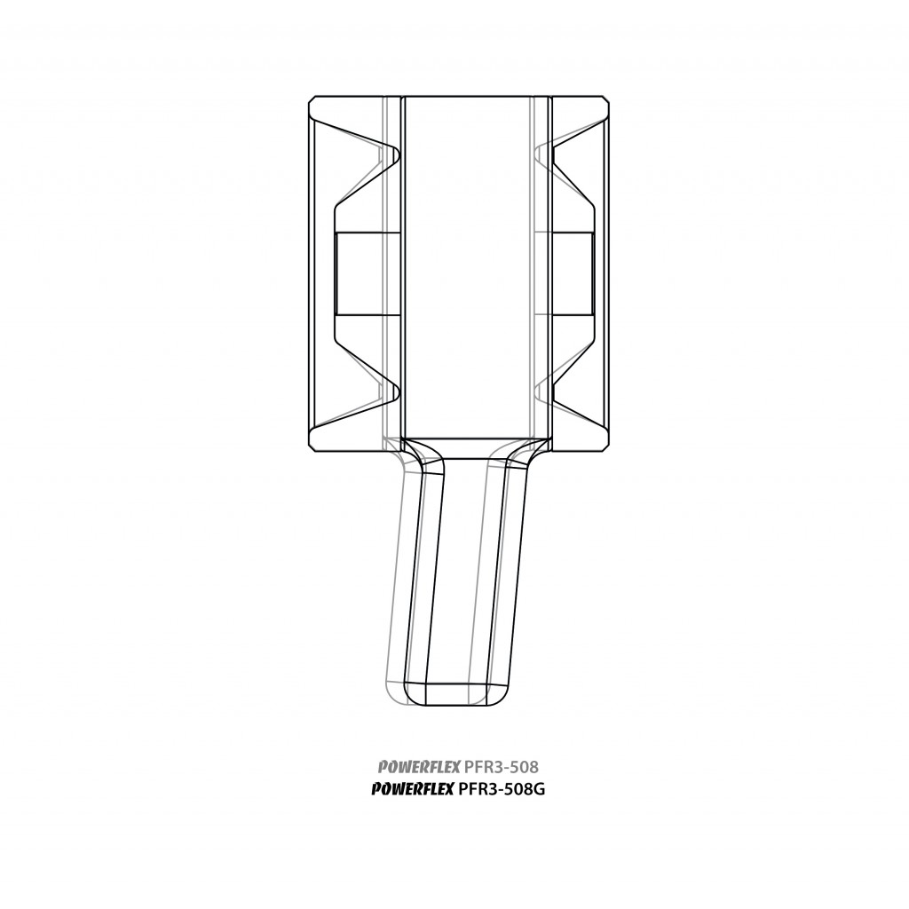 2 x Powerflex PFR3-508GBLK PU Buchsen Aufhängung