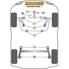 2 x Powerflex PFR19-2030 Rear Spring Upper Isolator Ford
