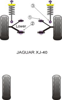 Jaguar XJ40 (1986 to 1994) Replacement Suspension Bushings