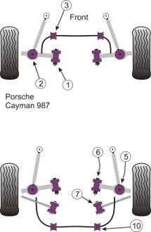 Porsche Cayman 987 (2005 to 2012) Replacement Suspension