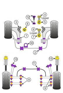 mini cooper suspension diagram 6 circle writable venn example 2001 to 2006 replacement bushings gen 1