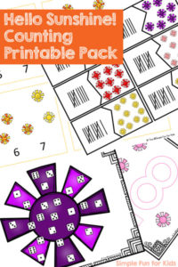 Hello Sunshine! Counting Printable Pack