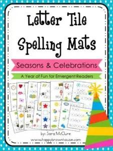 Letter Tile Spelling Mats Bundle (Seasons-Holidays) (1)
