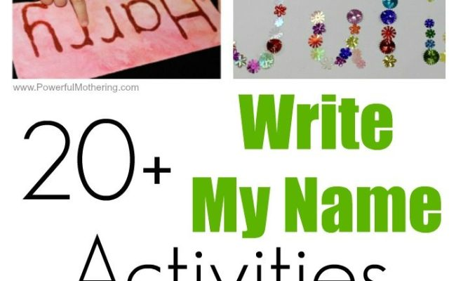 20 Fun Write My Name Activities For Toddlers And Preschoolers
