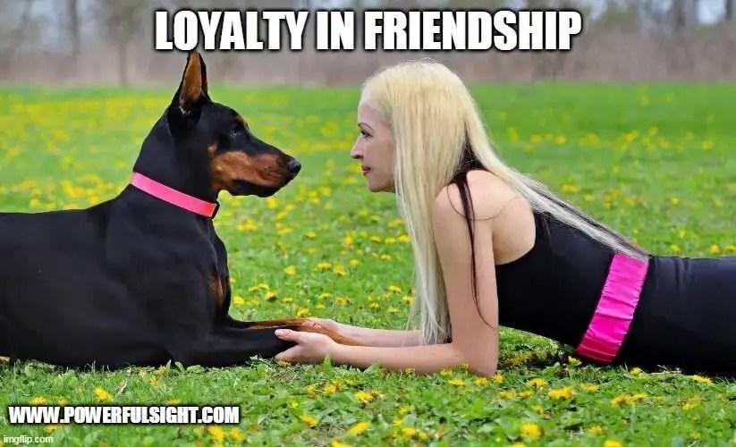 Loyalty in friendship