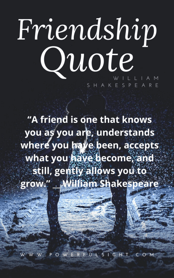 Friendship quote by William Shakespeare