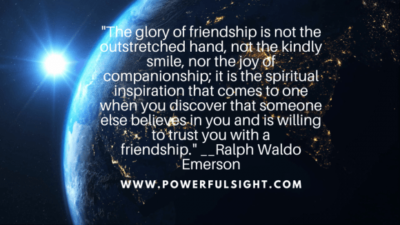 Friendship quote by Ralph Waldo Emerson