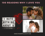 100 Reasons Why I Love You List