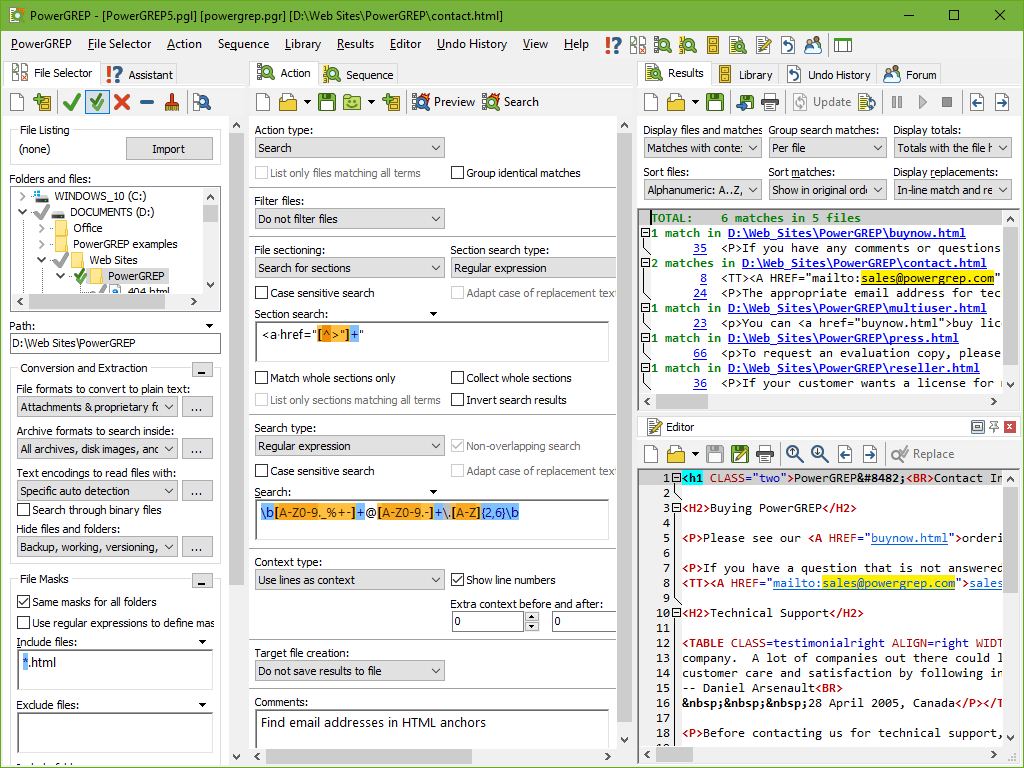 Searching For Information With Powergrep