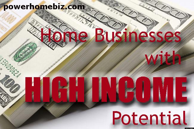 Home Businesses with High Income Potential  PowerHomeBizcom