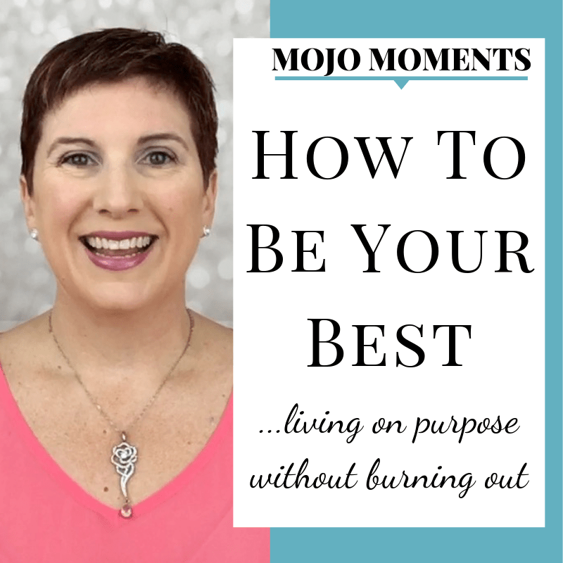 This week's Mojo Moment with Vanessa Long shows you why you need to focus on being YOUR best.