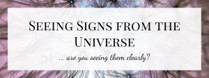 Seeing Signs from the Universe