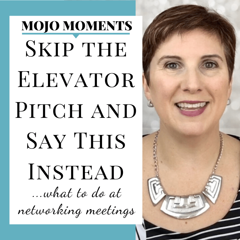 Vanessa Long on what to say when you're networking instead of the elevator pitch