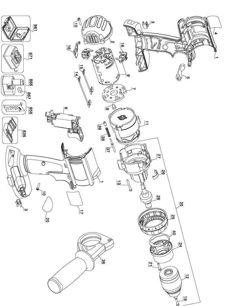 De Walt Tool Part Diagram