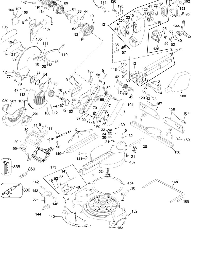 Parts for dw708 type 4 powerhouse distributing dewalt saw parts diagram wiring