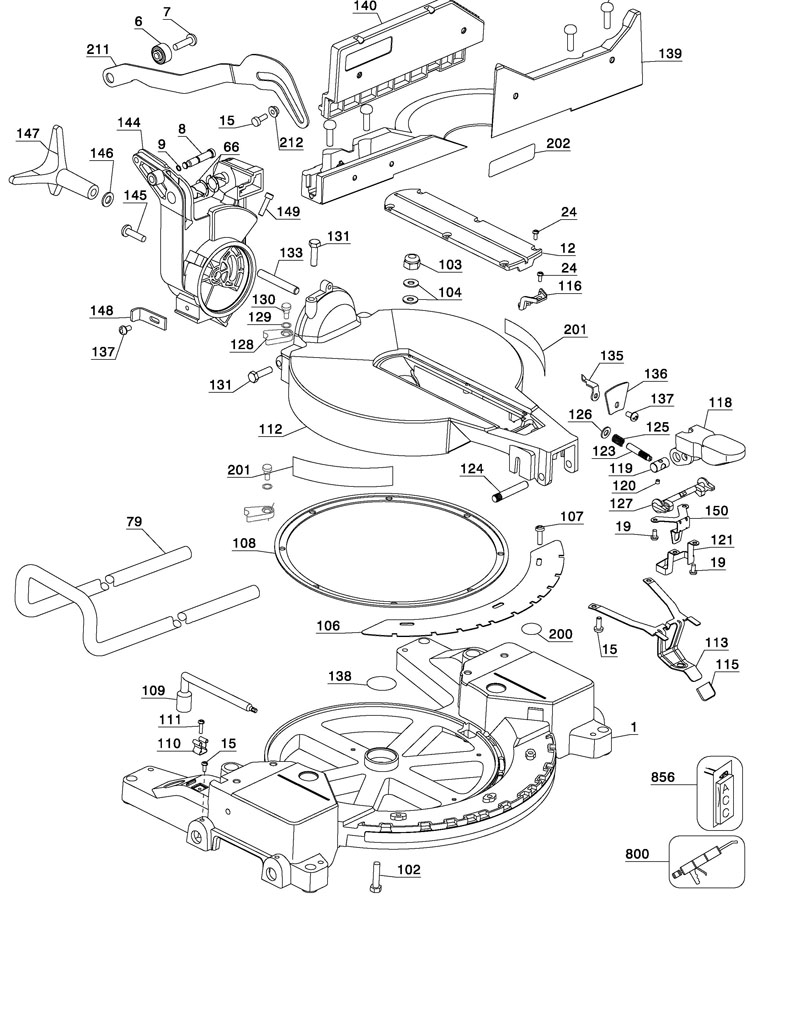 Parts for dw715 type 2 powerhouse distributing