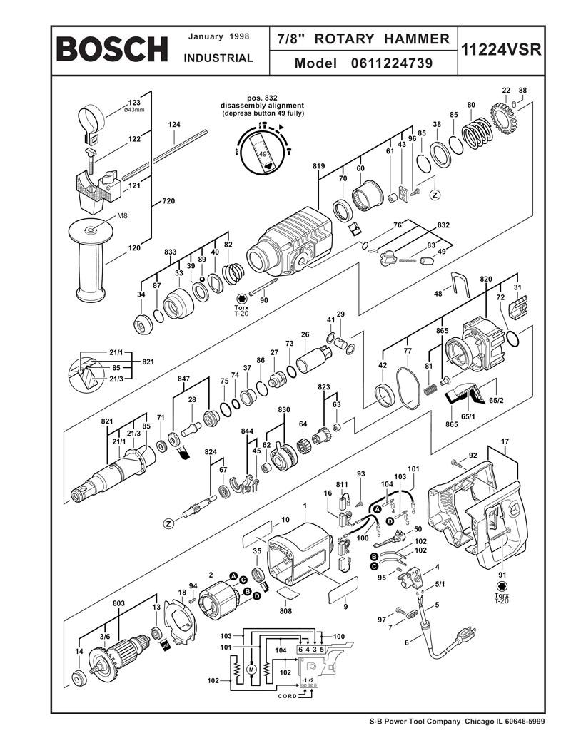 Bosch 11224vsr Wiring Diagram : 29 Wiring Diagram Images