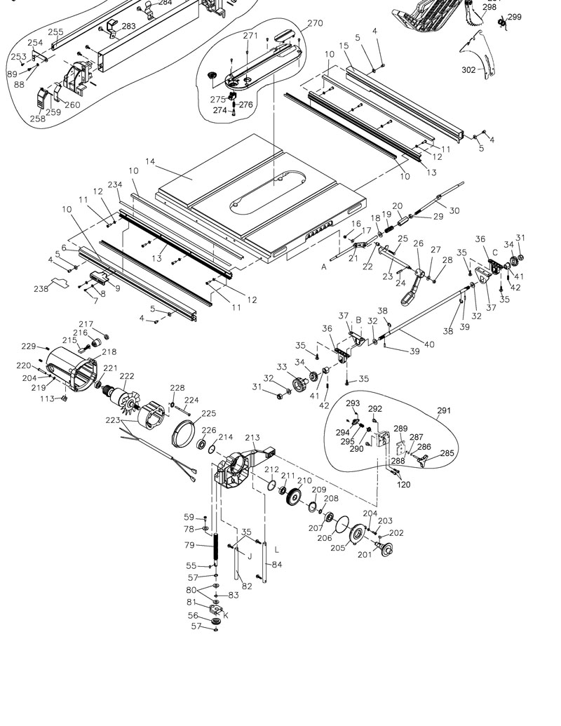Dewalt Dw745 Parts List And Diagram