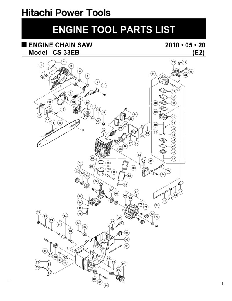 Husqvarna 51 Chainsaw 1998 Parts Diagram Page 4