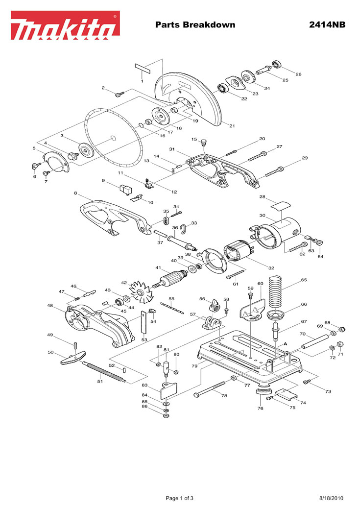 Makita Parts List Breakdowns Pictures to Pin on Pinterest