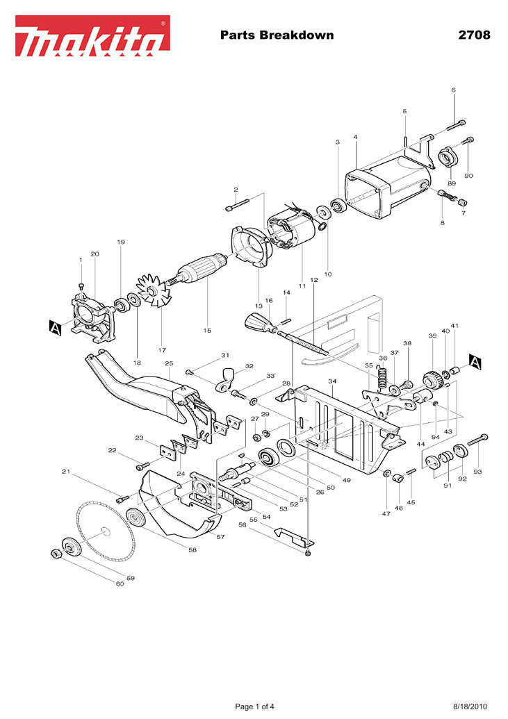 MAKITA 2708 MANUAL PDF