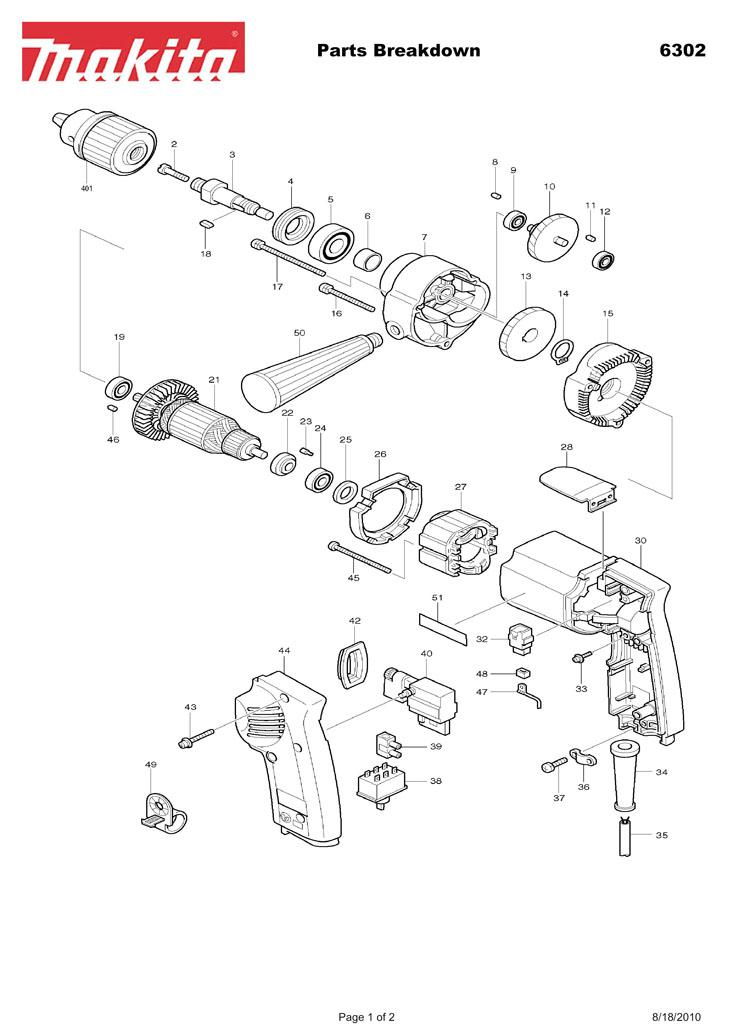 makita grinder parts breakdown