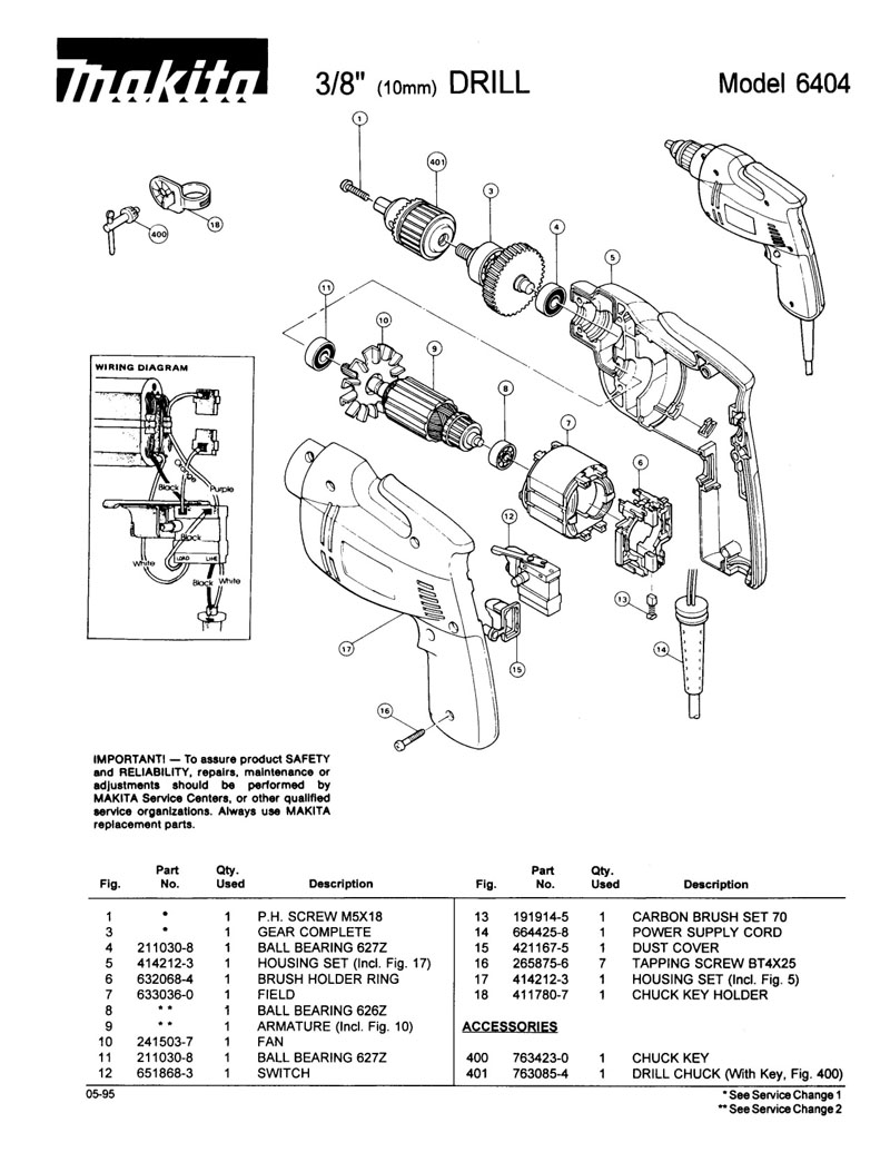 Wiring Diagram For Electric Drill: Craftsman drill parts