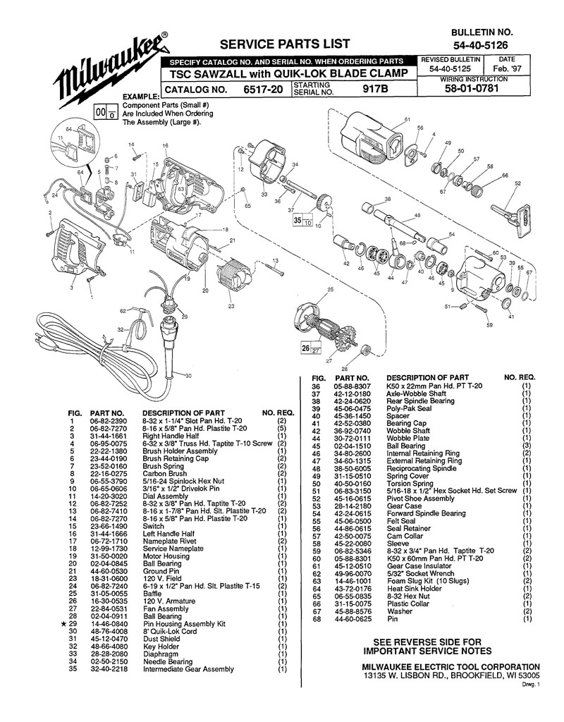 Milwaukee Sawzall Wiring Diagram Epc Wiring Harness