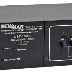 rack mount dc circuit breaker panel 100 amp 8 circuit model dst  [ 1800 x 533 Pixel ]