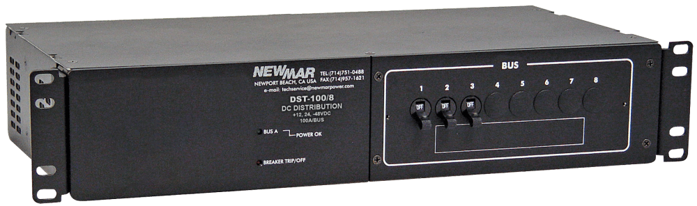 medium resolution of rack mount dc circuit breaker panel 100 amp 8 circuit model dst