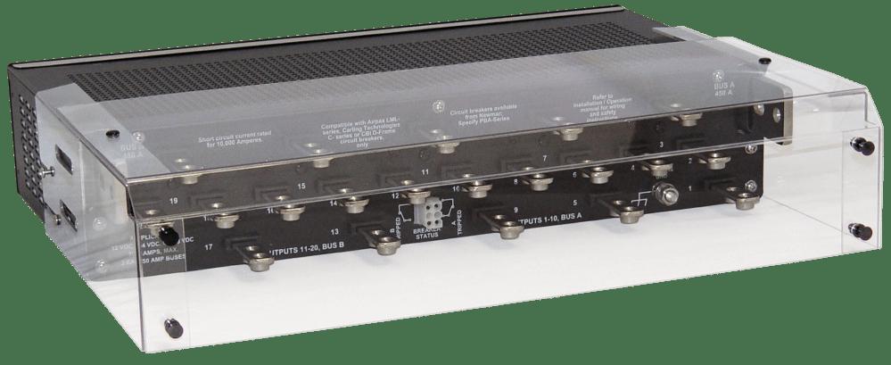 medium resolution of rear cover for circuit breaker rackmount dc distribution panels 12v 24v and 48v