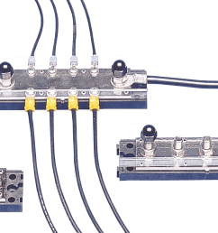 terminal strips buss bars newmar powering the network wiring low voltage bus bar [ 1740 x 690 Pixel ]