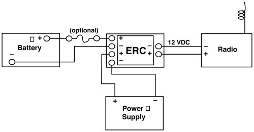 small resolution of emergency relay charger series allows for emergency tie in to battery for radio that