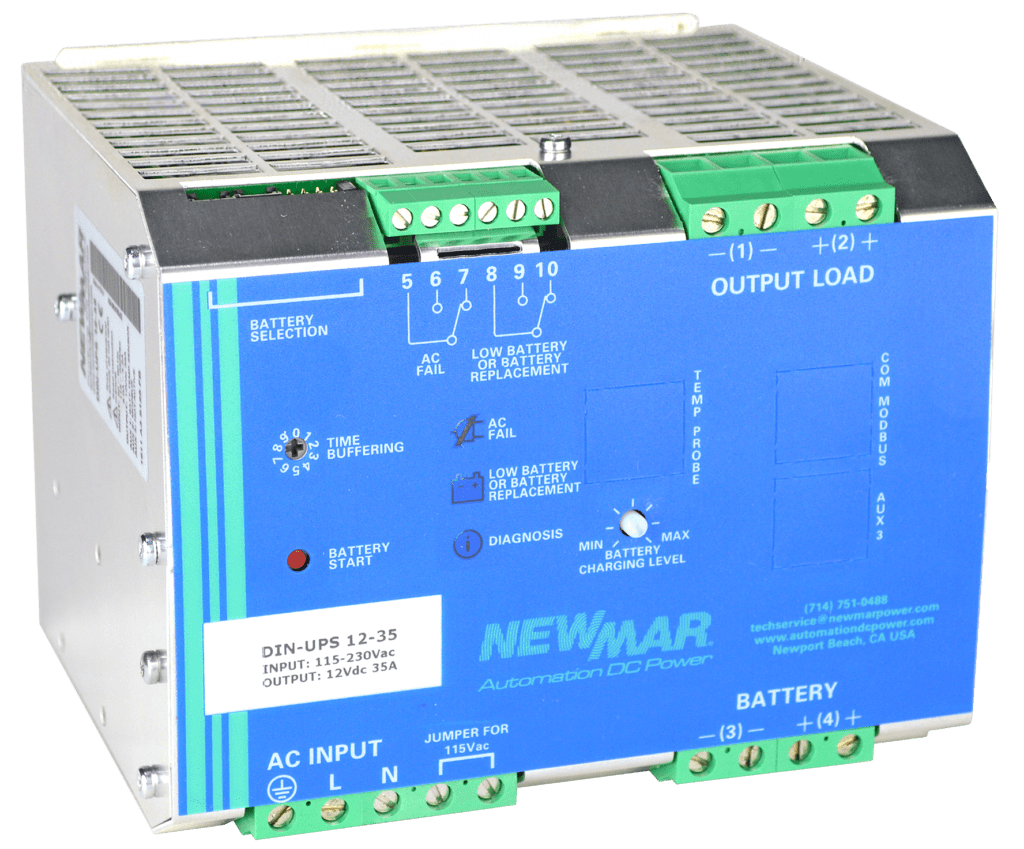 hight resolution of din ups 12 35 din rail mounted dc ups newmar powering the network
